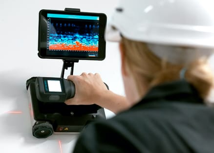 GPR Probe combined with device tablet holder