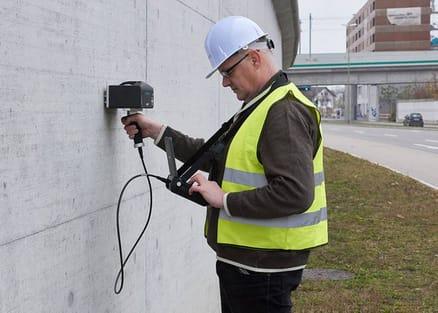 Pundit 250 Array Ultrasonic Pulse Echo Concrete Scanner Standardisation