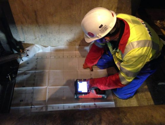 Scanning with the Hilti PS100 X-Scan